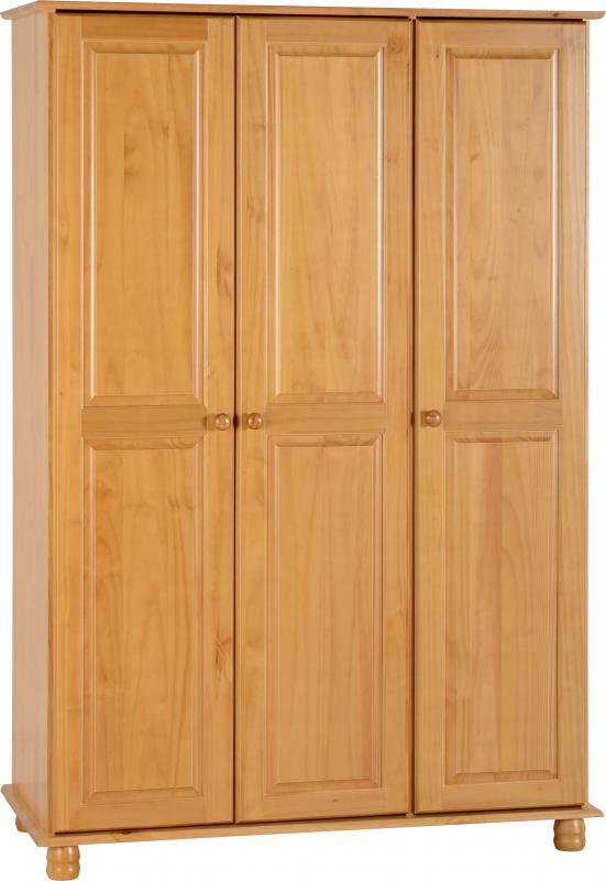 Sol Antique Pine 3 Door Wardrobe