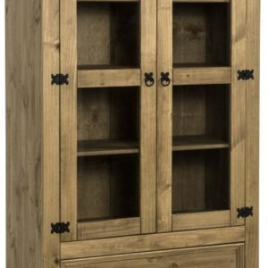 Corona Mexican Pine Glass Display Unit