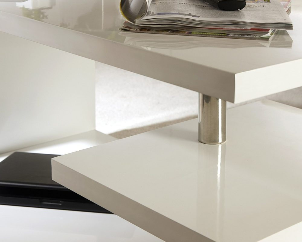 Polar Gloss White Led Coffee Table One Stop Furniture Shop