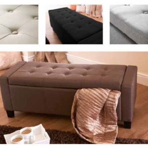 Verona Fabric Ottoman Storage Box - Available in 4 Colours offers a simply stunning design. Free UK mainland delivery on this range