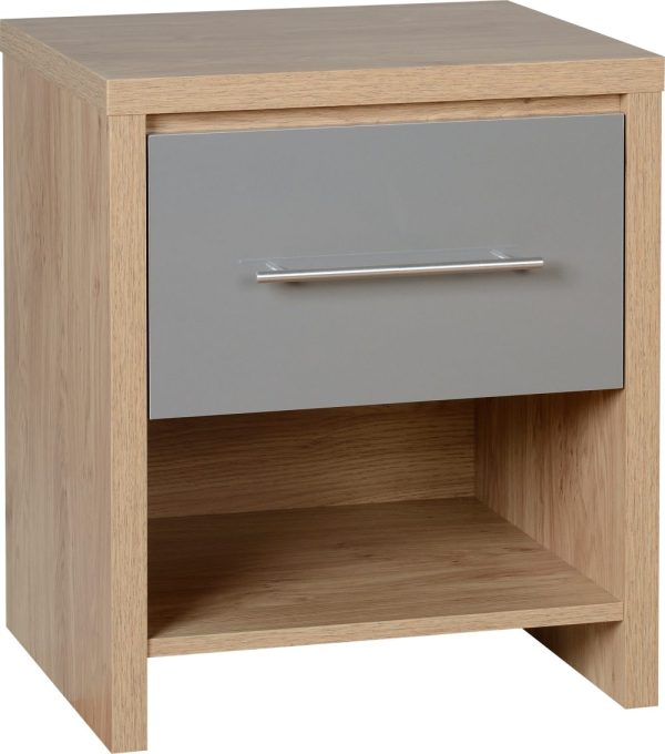 Seville Gloss 1 Draw Bedside - White, Grey, Black Available *BRAND NEW*