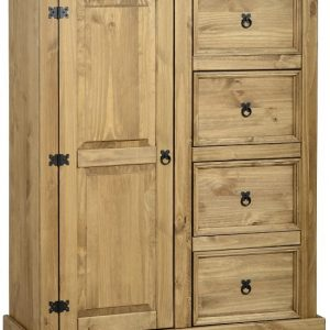 Corona Mexican Pine 1 Door 4 Drawer Wardrobe