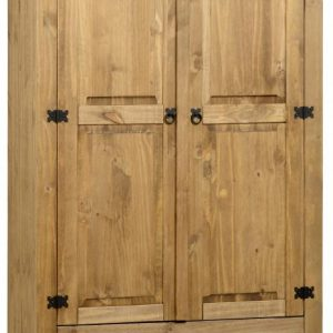 Corona Mexican Pine 2 Door 1 Drawer Wardrobe