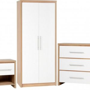 Seville White Gloss Bedroom Set