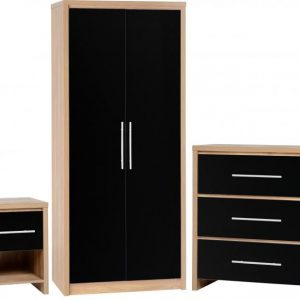 Seville Black Gloss Bedroom Set