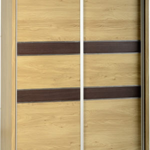 Charles Oak Effect 2 Door Sliding Wardrobe