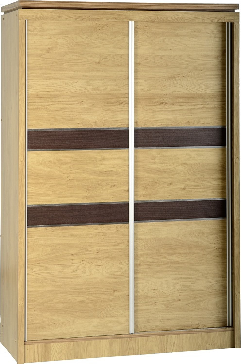 Charles Oak Effect 2 Door Sliding Wardrobe