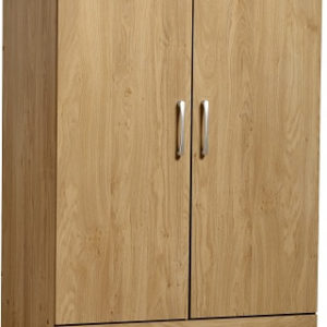 Charles Oak Effect 2 Door 2 Draw Wardrobe