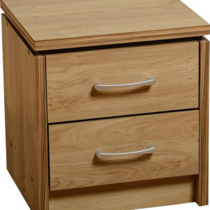 Charles Oak Effect 2 Drawer Bedside