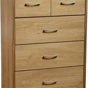 Charles Oak Effect 3+ 2 Drawer Chest