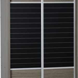 Lisbon Black Wood Grain 2 Door Sliding Wardrobe