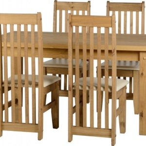 Tortilla 4'9 Distressed Waxed Pine Dining Set