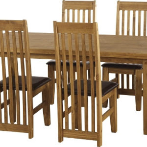 Tortilla 6' Distressed Waxed Pine Dining Set
