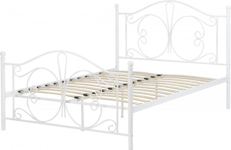 Stupendous Annabel White Metal Bed Frame 2 Sizes Available Onthecornerstone Fun Painted Chair Ideas Images Onthecornerstoneorg