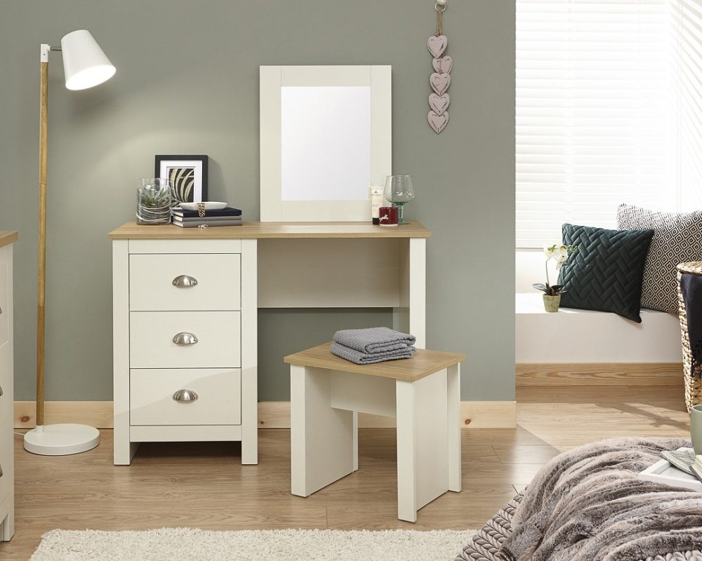 check out 065a7 3a3b5 Lancaster Cream Dressing Table Set