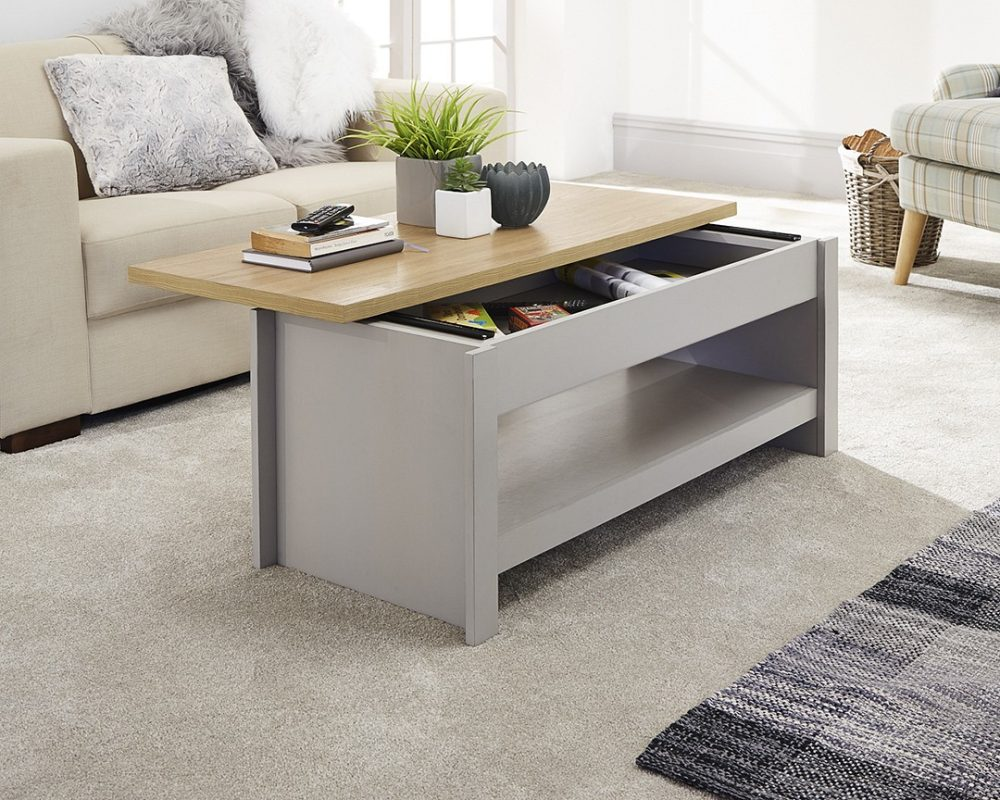 Coffee Table With Storage Grey 7