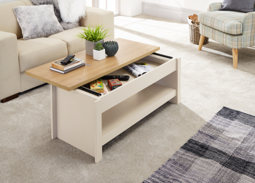 Coffee Table With Sliding Top Storage.Lancaster Cream Sliding Top Storage Coffee Table